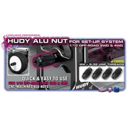 Alu Nut For 1/10 Off-Road Set-Up System (4)