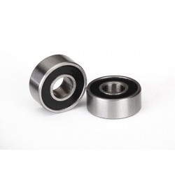 Ball bearings. black rubber sealed (4x10x4mm) (2)