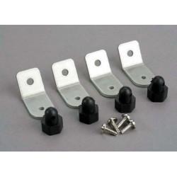 Body posts/ aluminum mounting brackets/ 3x8 ST (8)