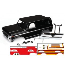Body. Ford Bronco. complete (black) (includes front and rear bumpers. push bar.