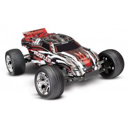 Traxxas Rustler XL-5 TQ (no battery/charger). Red