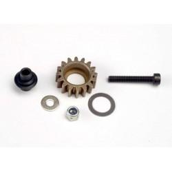 Idler gear. steel (16-tooth)/ idler gear shaft/ 3x8mm flat