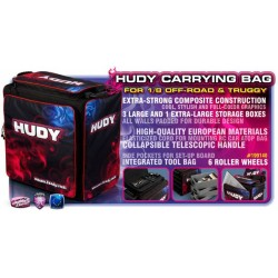 Hudy 1/8 Off-Road & Truggy Carrying Bag + Tool Bag - Exclusi