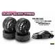 HUDY 1/10 Slick Tires Right & Left (2+2)