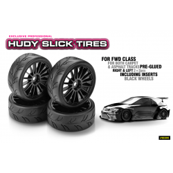 HUDY 1/10 Slick Tires Right & Left (2+2)