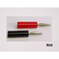Bananaplug gold 4mm red & black (2 pcs)