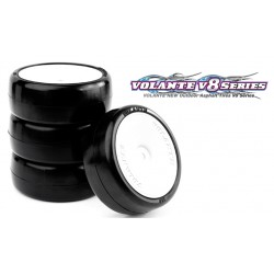 Volante V8T 1/10 TC 24R Rubber Tire Pre-glued 4pcs , Asphalt