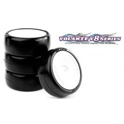 Volante V8T 1/10 TC 32R Rubber Tire Pre-glued 4pcs , Asphalt