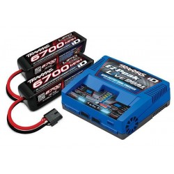 Battery/Charger Completer Pack (Includes 2973 Dual Id Charger (1), 2890X 6700Mah 14.8V 4-Cell 25C Lipo Battery (2))