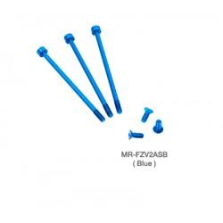 Muchmore FLETA ZX V2 Case & Timing Cap Aluminum Screws Blue 6pcs