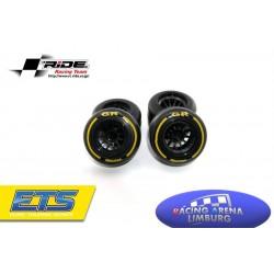 Ride F1 Rear Rubber Slick Tires GR Compound 61mm Preglued Asphalt