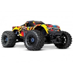 Traxxas Maxx 1/10 Scale 4WD Brushless Electric Monster Truck, VXL-4S, TQi Solar Flare