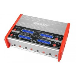 Team Corally - Eclips 4400 Quad Charger, AC/DC, 400W, Lcd Screen, (4X) 1-6 Li-Xx, 1-15 Ni-Xx