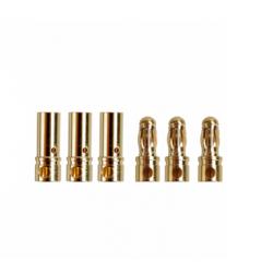 MR33 Brushless Motor Connector Set 3,5mm Male & Female (3+3)