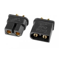 Team Corally - TC PRO Connector 3.5mm - Gold Plated Connectors - Reverse polarity protection - Male + Female - 1 pair