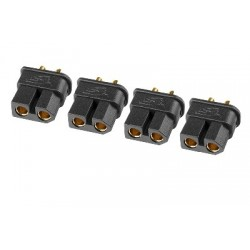 Team Corally - TC PRO Connector 3.5mm - Gold Plated Connectors - Reverse polarity protection - Male - 4 pcs
