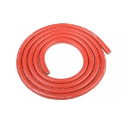 Team Corally - Ultra V+ Silicone Wire - Super Flexible - Red - 10AWG - 2683 / 0.05 Strands - ODø 5.5mm - 1m