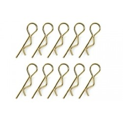 Team Corally - Body Clips 45° Bent - Large - Gold - 10 pcs