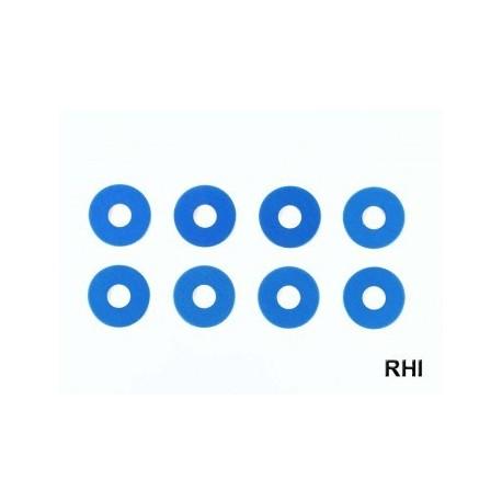TRF Alum. Wheel Spacer 0,75mm blue (8)