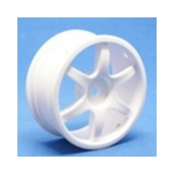 Ride 6 Spoke Nylon Wheel - White