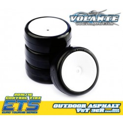 Volante V5 Tough 1/10 36R TC Rubber Tire Preglued