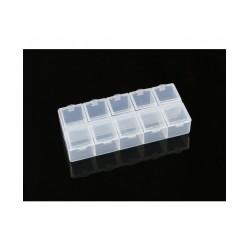 10-Compartment Parts Box (132 X 58 X 20mm)