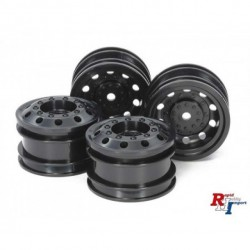Tamiya RC On Road Racing Truck Wheels - Black