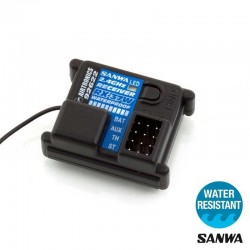 Sanwa RX-371W Receiver (3 channel/2.4GHz FHSS-2/waterproof)