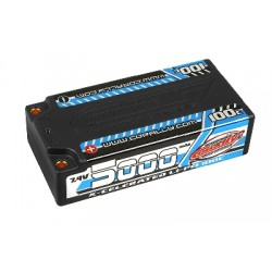 Team Corally - X-Celerated 100C LiPo HV Battery - 5000 mAh - 7.4V - Stick 2S - 4mm Bullit