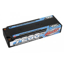 Team Corally - X-Celerated 100C LiPo HV Battery - 7200 mAh - 7.4V - Stick 2S - 4mm Bullit