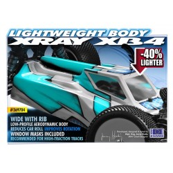 XRAY XB4 BODY - WIDE WITH RIB - LIGHT