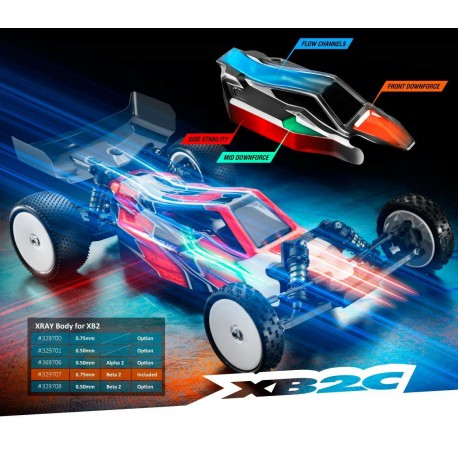 XRAY BODY FOR 1/10 2WD OFF-ROAD BUGGY 0.75MM - BETA 2
