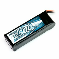 Muchmore IMPACT FD LiPo Battery 2500mAh 7.4V 4C Flat Size for Tx & Rx