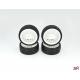 Ride 1/10 Slick Tires Precut 24mm Pre-glued with 16 Spoke Wheel White, 4pcs.