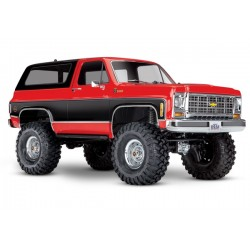 Traxxas TRX-4 Chevy K5 Blazer Crawler TQi XL-5 (no battery/charger), Red