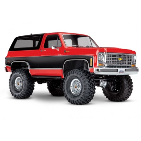 Traxxas TRX-4 Chevy K5 Blazer Crawler TQi XL-5 (no battery/charger), Red